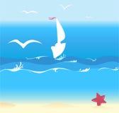 Summer Ocean Background Stock Photography