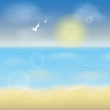 Summer ocean background Royalty Free Stock Image
