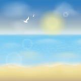Summer ocean background. Summer sea or ocean background.Vector illustration Royalty Free Stock Image
