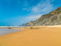 Summer Ocean Beach And Mountains Landscape royalty free stock images