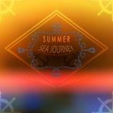 Summer ocean, blurred landscape, interface. Corporate website de Stock Photography