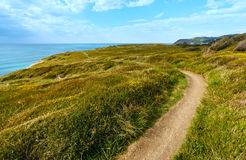 Summer ocean coastline view near Gorliz  town (Spain). Royalty Free Stock Image