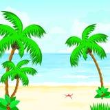 Summer ocean tropical. Beach summer ocean Paradise of warm calm beauty Stock Photo
