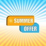 Summer offer over rays Royalty Free Stock Photography