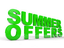 Summer Offers Royalty Free Stock Image