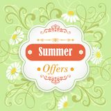Summer offers promotion banner Stock Photography