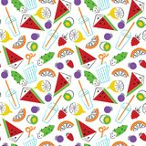 Summer ogranic drinks vector seamless pattern. Royalty Free Stock Images