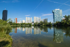 Summer at the Old Danube in Vienna Royalty Free Stock Photos
