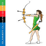 Summer Olympic games archery Royalty Free Stock Photo