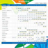 Summer Olympic games Brazil 2016 Sport Schedule Stock Photos