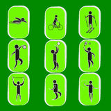 Summer Olympic games icon set Royalty Free Stock Photos