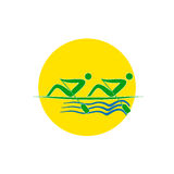 Summer Olympic games logo Rowing Twos. Vector Royalty Free Stock Photography