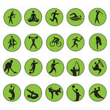 Summer Olympic games 20 twenty icon vector set Royalty Free Stock Photo