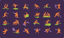 Summer Olympic icons Stock Photography