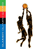 Summer Olympic igry volleyball silhouettes2 Royalty Free Stock Photography
