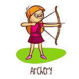 Summer Olympic Sports Archery Stock Photo