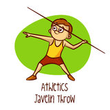 Summer Olympic Sports. Athletics. Javelin Throw Royalty Free Stock Images