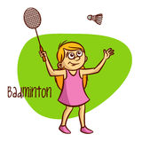 Summer Olympic Sports. Badminton Royalty Free Stock Image