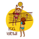 Summer Olympic Sports. Beach Volleyball Royalty Free Stock Photos
