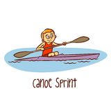 Summer Olympic Sports. Canoe Sprint Royalty Free Stock Photography