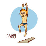 Summer Olympic Sports. Diving Stock Images