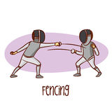 Summer Olympic Sports. Fencing Stock Images