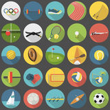 Summer olympic sports flat icon set part 1 Stock Photography