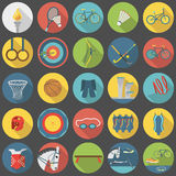 Summer olympic sports  flat icon set part 2. Collection of summer olympic sports, part 2 Royalty Free Stock Image