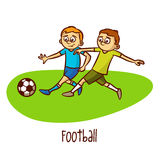 Summer Olympic Sports. Football. Soccer Royalty Free Stock Photo
