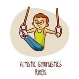 Summer Olympic Sports. Gymnastics Artistic Rings vector illustration