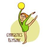 Summer Olympic Sports. Gymnastics Rhythmic. Ball Stock Photos