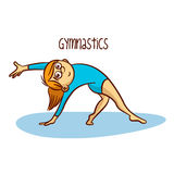 Summer Olympic Sports. Gymnastics Rhythmic Stock Photos