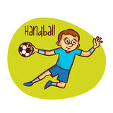 Summer Olympic Sports. Handball Royalty Free Stock Images