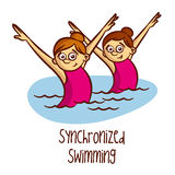Summer Olympic Sports. Synchronized Swimming Royalty Free Stock Photography