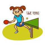 Summer Olympic Sports. Table Tennis Royalty Free Stock Images