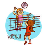 Summer Olympic Sports. Volleyball Royalty Free Stock Images