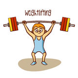 Summer Olympic Sports. Weightlifting Stock Photo