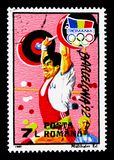Summer Olympics, Barcelona 1992, Olympic Games serie, circa 1992. MOSCOW, RUSSIA - MARCH 29, 2018: A stamp printed in Romania shows Summer Olympics, Barcelona Royalty Free Stock Photo