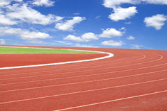 Summer olympics template from running track and sky royalty free stock images
