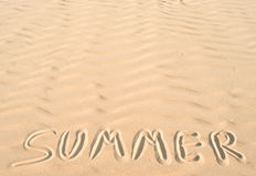 Summer om sand Stock Images