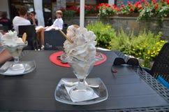 A big icecream cup in summer stock photos