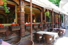 Summer open air cafe Stock Photo