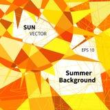 Summer orange background , vector. Illustration Stock Photography