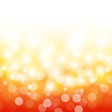 Summer orange with bokeh and lens flare background. Summer orange and yellow with bokeh and lens flare pattern background Royalty Free Stock Photos