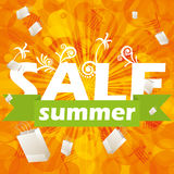 Summer orange sale design template Royalty Free Stock Images
