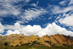 Summer, Organ Mountains in Las Cruces, New Mexico Stock Photography