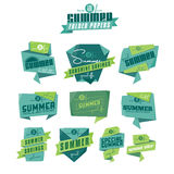 Summer origami labels Stock Photography