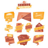 Summer origami labels Stock Images