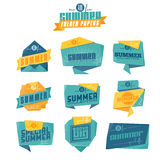 Summer origami labels Royalty Free Stock Image