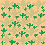 Pattern of green and light green cactus beige background royalty free illustration